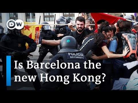 What do protests in Hong Kong and Barcelona have in common? | DW News