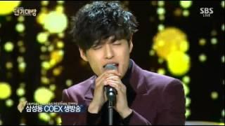 배우 강하늘 2014 SBS 연기대상 공연 - 나는 나비(YB)