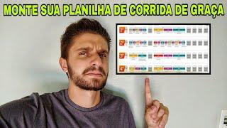 PLANILHA DE CORRIDA GRÁTIS GARANTA JÁ A SUA