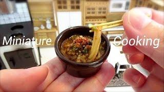 Miniature Cooking #29-ミニチュア料理-『担々麺-Dandan Noodles-』 Edible Tiny Food Tiny Kitchen Mini Food