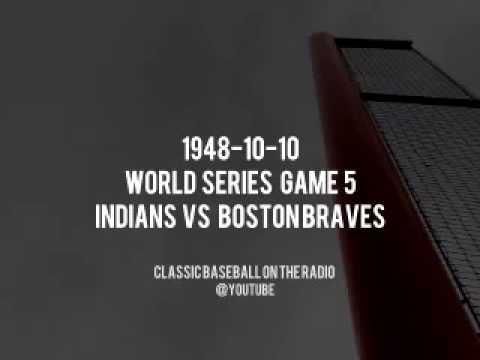 1948 10 10 World Series Game 5 Indians at Braves Baseball Vintage Broadcast
