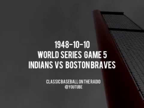 1948 10 10 World Series Game 5 Indians at Braves Baseball Vintage Broadcast