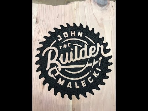 #266 Part 4 of 7 Small Detailed Carving On John Malecki Logo