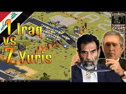 Yuri's Revenge - Iraq vs 7  brutal Yuris with superweapons