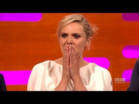 "Elizabeth Olsen asks ""What is TSUNAMI TONGUE?"