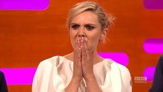 "Elizabeth Olsen asks ""What is TSUNAMI TONGUE?"" on The Graham Norton Show"