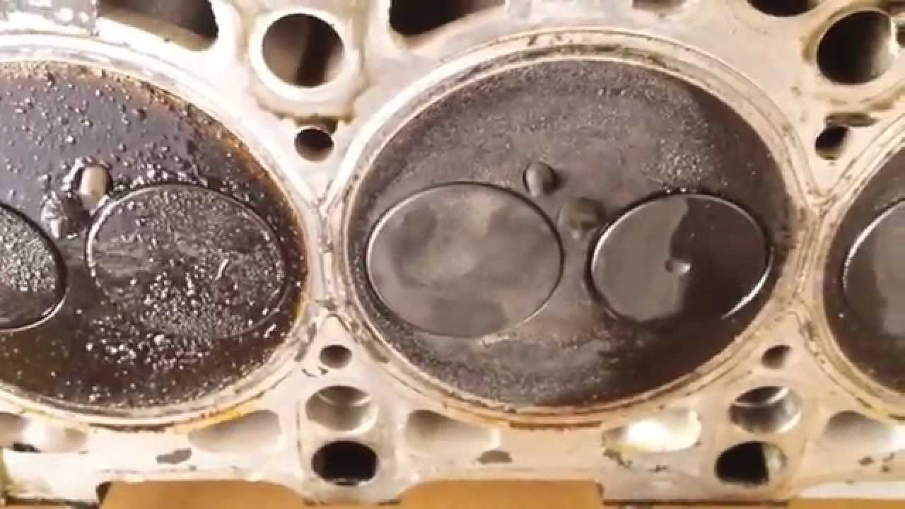 Vw 1.9 TDI Head Valve seal leaking Evidence ALH engine - YouTube
