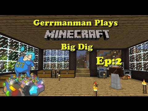 Minecraft Big Dig Ep:2 The Quest for Diamonds