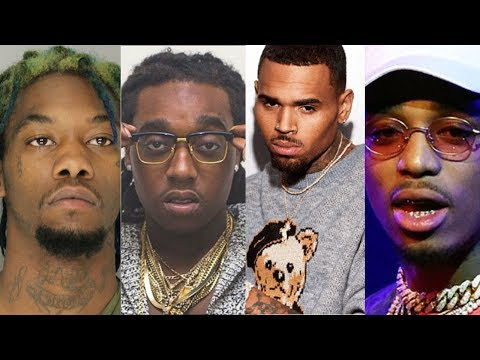 Chris Brown almost gets JUMPED by MIGOS on Video at BET AWARDS 2017