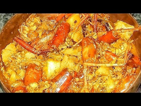 Prawn head with potato curry recipe#Prawn head recipe#Bengali style prawn head recipe