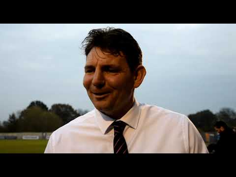 Manager Chris Beech with his reaction to the Hayes & Yeading FA Cup win