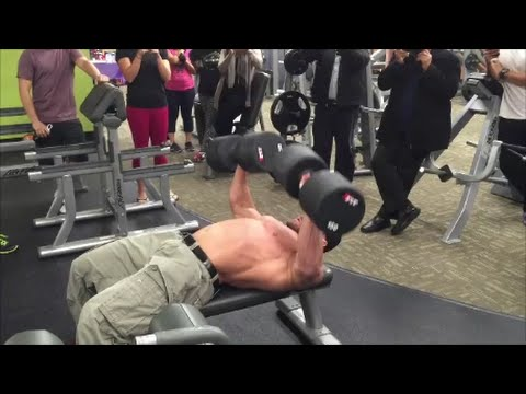 150lb Dumbbell Bench Press For REPS! | Anytime Fitness Markham, ON | Tiger Fitness
