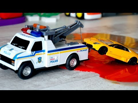 Polic Tow Truck and Police Car | Trucks for kids | Toys for kids Tow Truck | vehicles