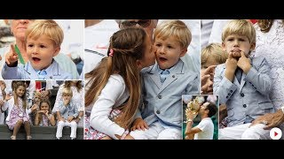 Roger Federer's two sets of twins steal show at Wimbledon with cheeky antics....