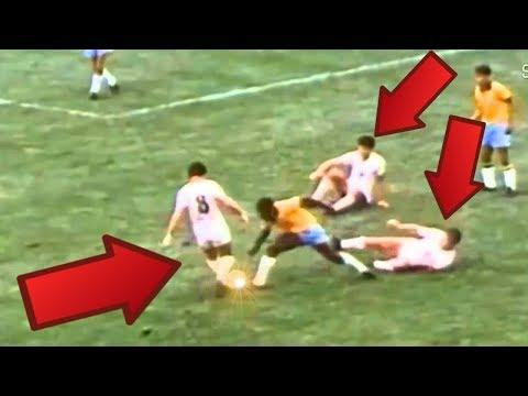 """Pelé """"El rey del futbol"""" mira lo que hacía  hace 50 años. Goles y skills increibles"""