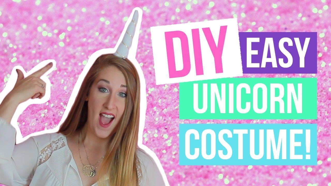 ef506b46131d DIY Last Minute Simple Unicorn Costume | Dana Jean - YouTube
