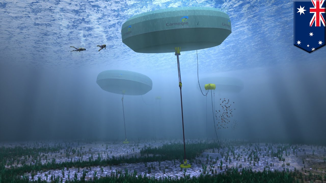 ... system converts sea waves into zero-emission electricity - YouTube