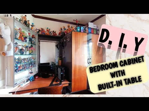 DIY Bedroom Closet  with Built-inTable | Space Transformation | Wood work |Carpentry works | VLOG 01