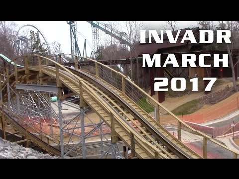 InvadR Construction Update March 18th, 2017 Busch Gardens Williamsburg