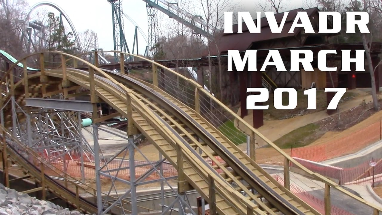 InvadR Construction Update March 2017 Busch Gardens Williamsburg ...