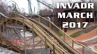 InvadR Construction Update March 18th, 2017 Busch Gardens Williamsburg