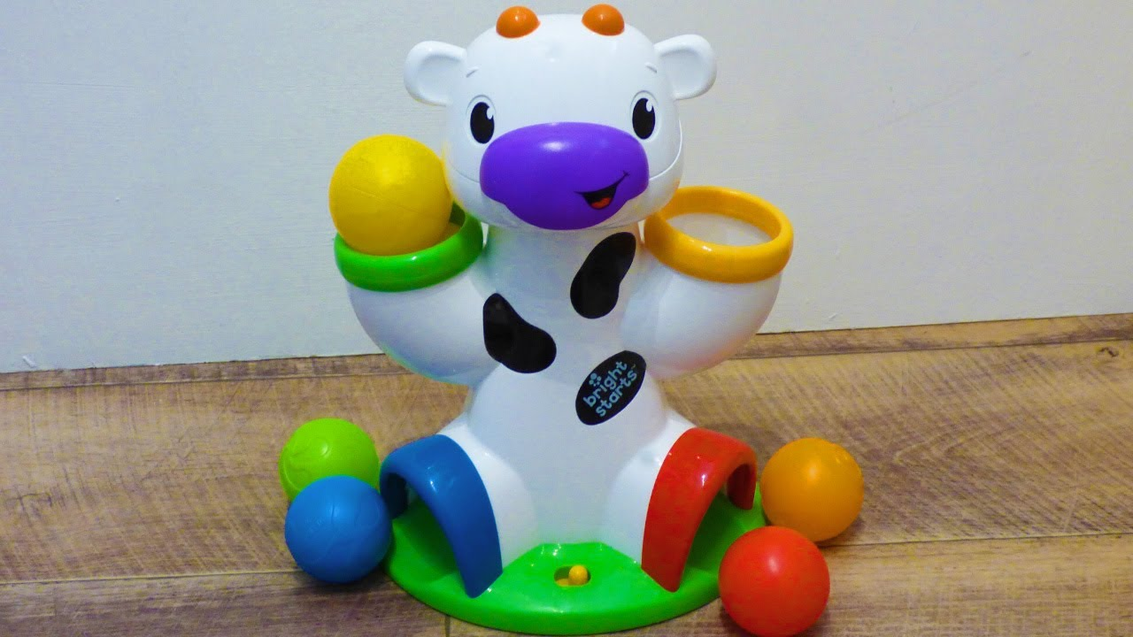 Bright Starts kids ball drop baby toy. Drop And Giggle Cow