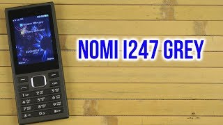 Распаковка Nomi i247 Grey