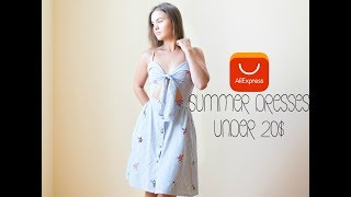 SUMMER DRESSES| AliExpress Haul| Under 20$