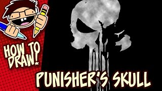 How to Draw THE PUNISHER's Skull Symbol (Netflix Series) | Easy Step-by-Step Drawing Tutorial