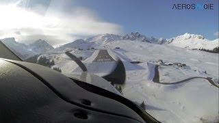 TBM 850 Landing at Courchevel altiport (inside pilot