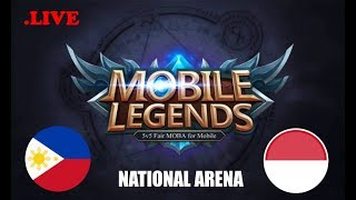 Philippines vs Indonesia National Arena & Viewers Game | Mobile Legends Bang Bang