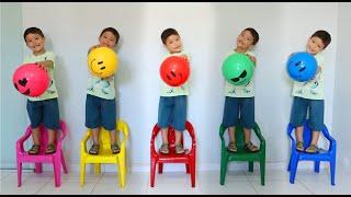 Música Cinco Bebês | Chanson Cinq bébé | Comptines et chansons pour enfants