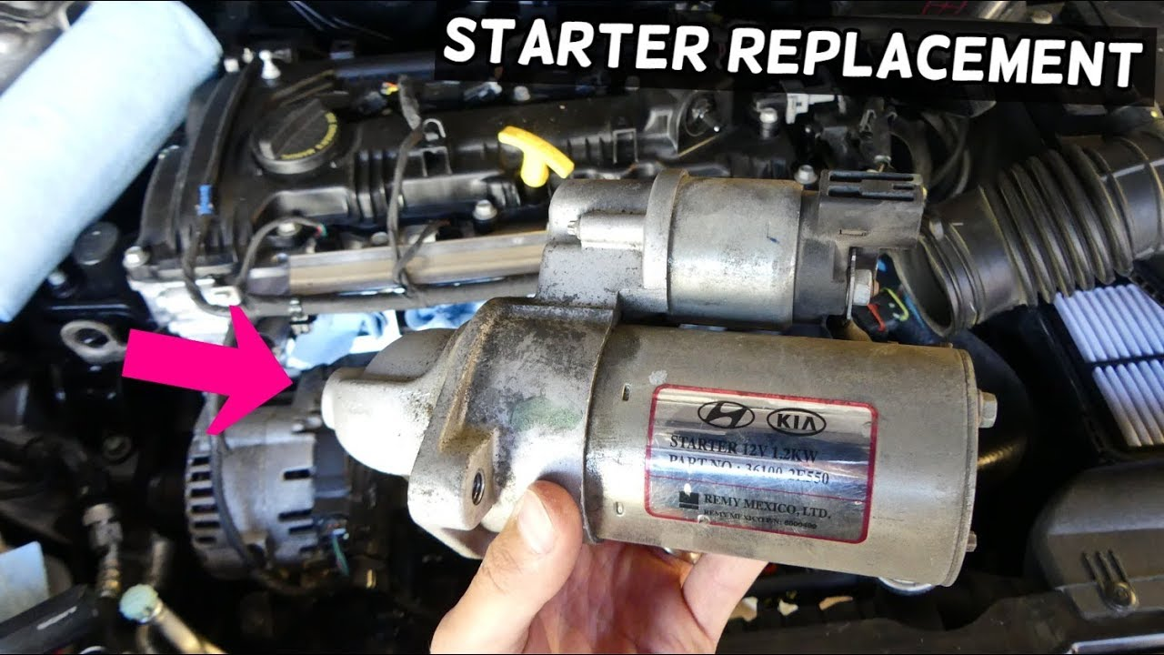How To Replace Starter On Kia Forte K3 Sportage Soul 1 8 2 0 Nu