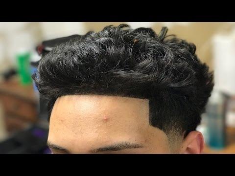 Wavy Hair Taper Fade Haircut Tutorial