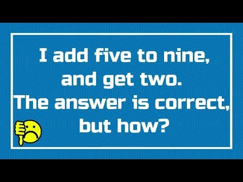 10 Maths Riddles For Kids That Blow Your Mind - YouTube