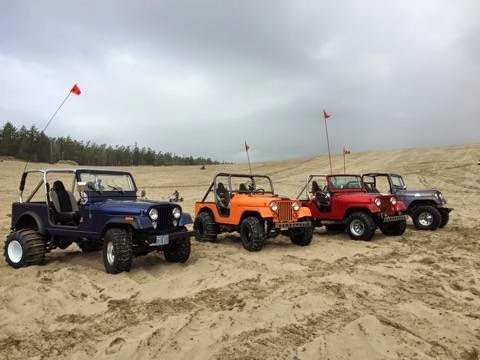 Small Block Chevy Powered Jeep CJ's in the Dunes
