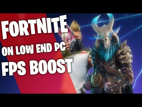 RUN FORTNITE ON LOW END PC /LAPTOP HOW TO FIX LAG FRAME DROP AND STUTTER FPS GUIDE 2018