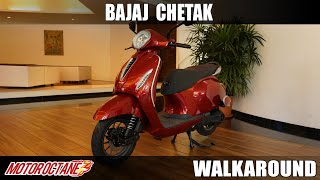2020 Bajaj Chetak Electric Scooter Detailed Walkaround | Hindi | MotorOctane