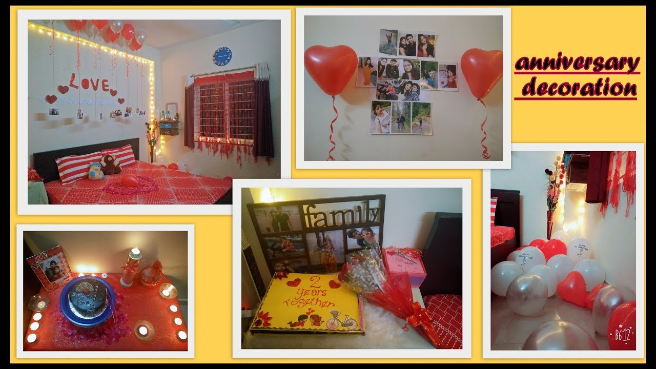Room Decoration For Anniversary - Room decoration idea anniversary room decoration by vinita