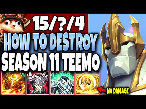 How to DESTROY Season 11 TEEMO with the Best IMMORTAL GALIO Build 🔥 LoL Galio Preseason s11 Gameplay