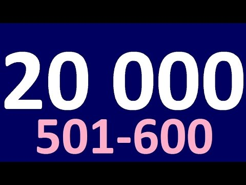 20 000 ENGLISH WORDS in ENGLISH CONVERSATION 501-600.  English speaking practiceю  Learn English