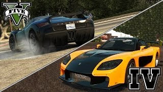 GTA V vs GTA IV - Driving Physics