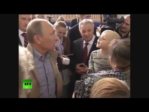 Ребенок говорит Путину ТЫ Палач!