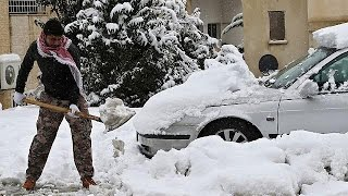 Children among victims of winter storm hitting Middle East