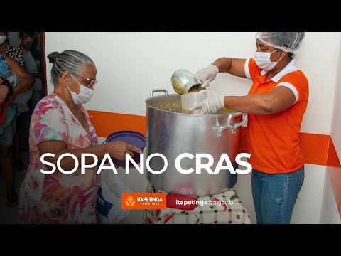 Distribuição de sopa no CRAS