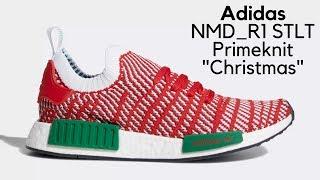 "Adidas NMD_R1 STLT Primeknit ""Christmas"" Unboxing"
