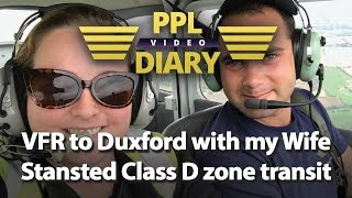 VFR to Duxford with my Wife | Stansted Class D zone transit (C…