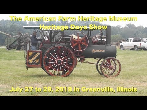 Attend The 2018 American Farm Heritage Days Show in Greenville, IL !
