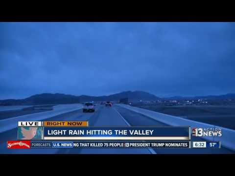 Wet weather in Las Vegas valley for Friday