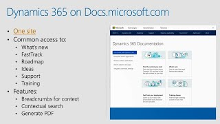 Documentation for Microsoft Dynamics 365: Great things are happening! - BRK1060